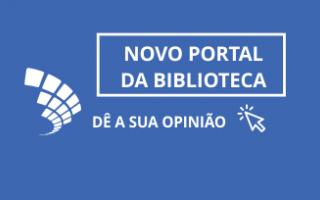 Biblioteca lança portal institucional