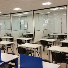 Estudo em dupla e salas de estudo em grupo